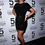 On Tuesday, Beyoncé was practically glowing at the opening of Topshop's NYC flagship store.