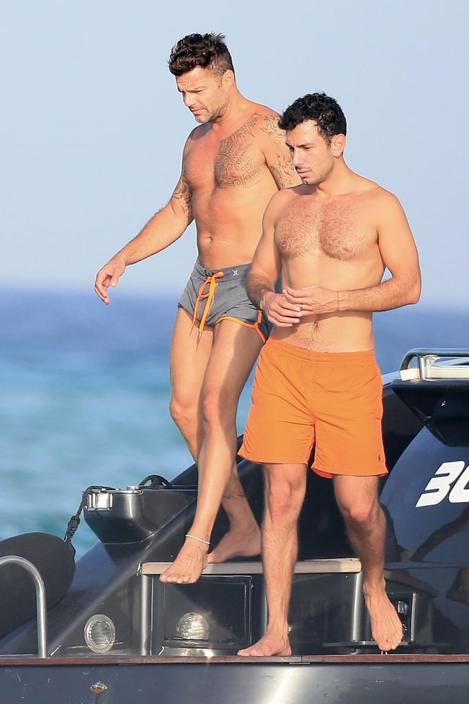 Ricky Martin and His Boyfriend in Ibiza September 2016