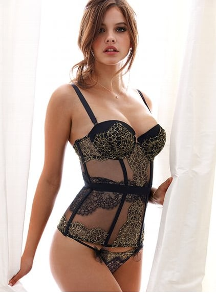 Victoria's Secret delivers on the sexiest kind of gift with this Lace Bustier ($358) from their designer collection.