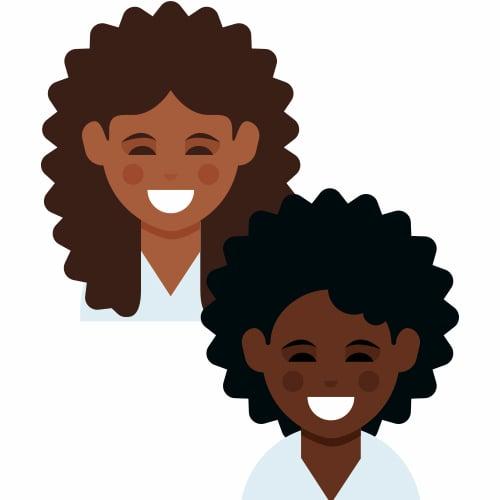 Emoji For Curly Hair and Dark Skin Tones