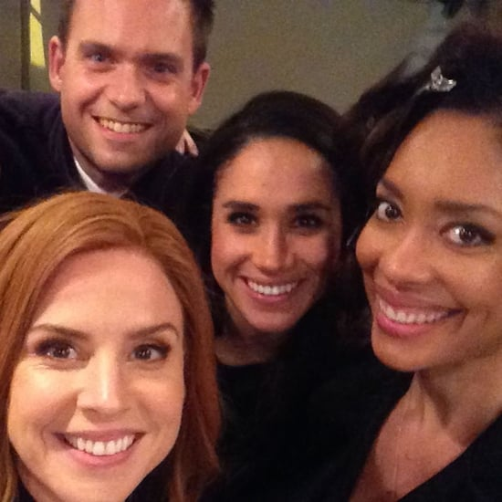 Behind-the-Scenes Photos of Meghan Markle on the Suits Set