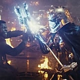 Finn and Captain Phasma's Duel