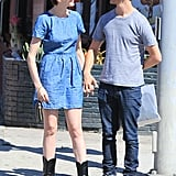 Anne Hathaway and Adam Shulman held hands in LA.