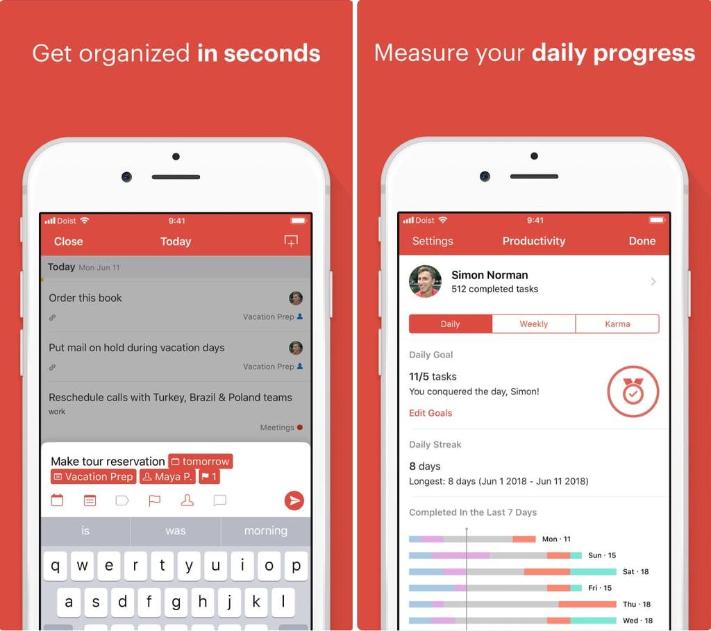 Todoist | Best Organisation Apps 2019 | POPSUGAR Australia