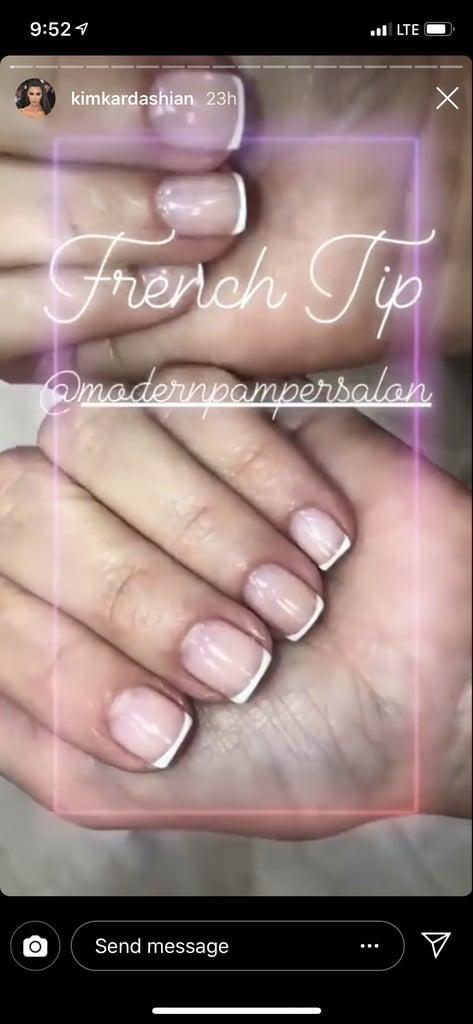 Kim Kardashian's French Manicure