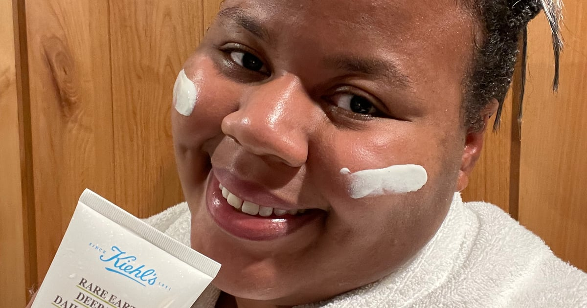 I Tried the Kiehl's Rare Earth Deep Pore Daily Cleanser, and My Sensitive Skin Is Glowing.jpg