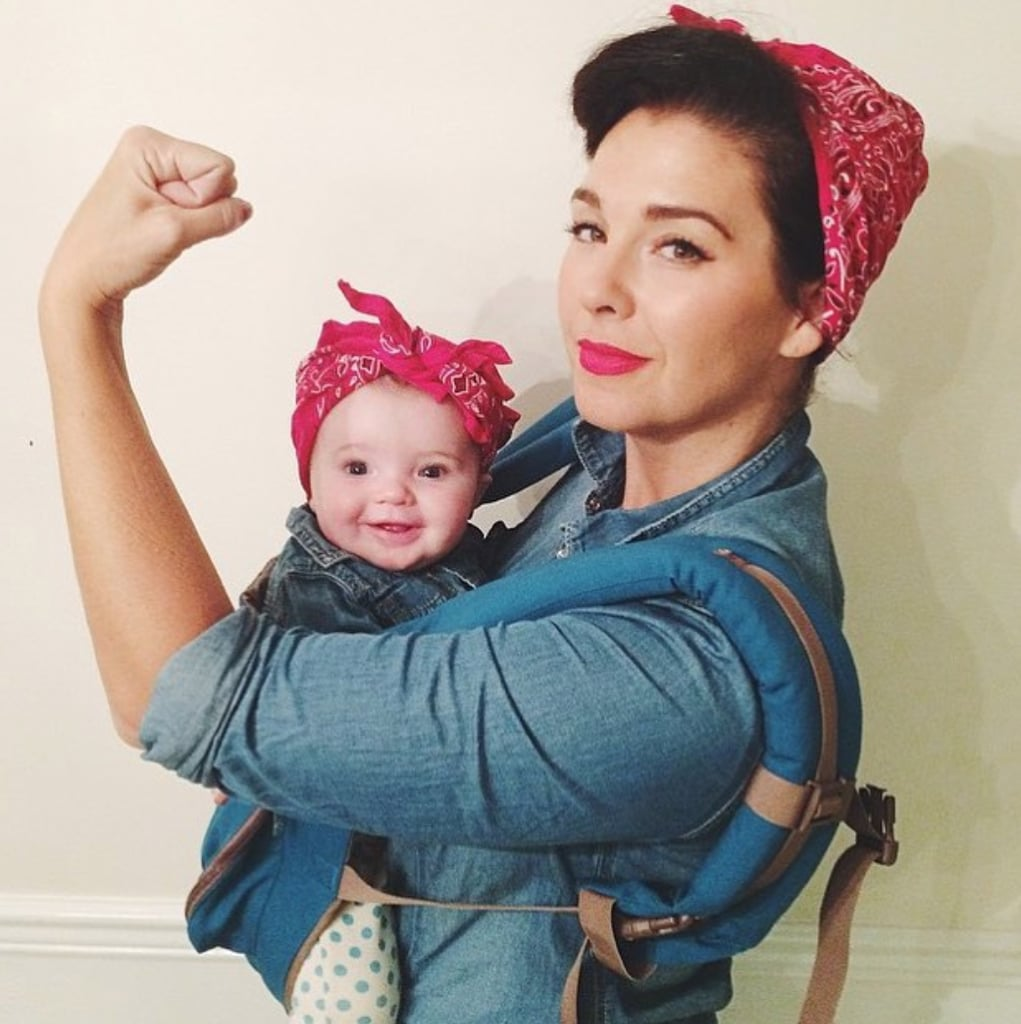 rosie the riveter | baby carrier halloween costumes | popsugar