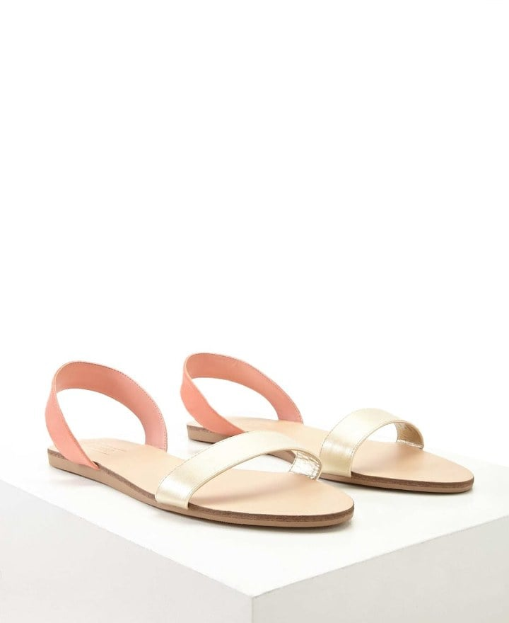 57a8c402ce4 Forever 21 Sling-Back Faux Leather Sandals