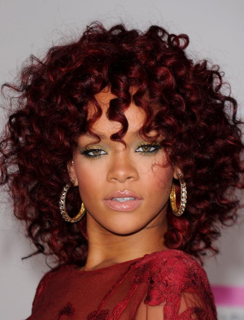 Rihanna's Red Curls