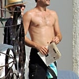 Joshua Jackson was shirtless alongside girlfriend Diane Kruger during a trip to Mexico in November.