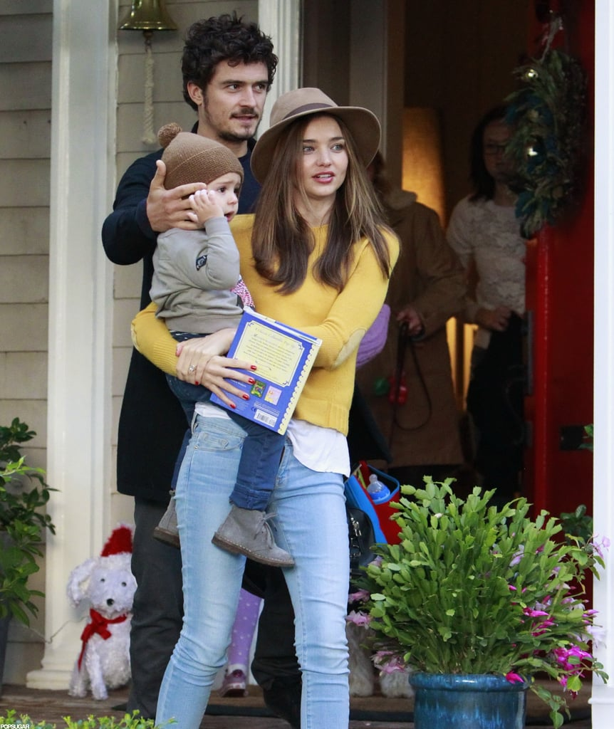 Miranda Kerr and Orlando Bloom brought their almost 2-year-old son Flynn along to a party in LA yesterday. The trio were reunited on the West Coast in order to spend the holidays as a family. Orlando and Flynn Christmas-shopped together, and Miranda shared a photo of the panna cotta dessert she made for her boys on the special day.  Orlando's recent absence — he was off shooting Zulu in South Africa — ignited rumors that he and Miranda were headed for a split. She wasn't able to join him on location since work with Victoria's Secret kept her in NYC. However, their reps, and even Orlando's mother, dismissed the stories as false. Miranda's been busy striking poses for the last 12 months and even ventured to Madrid earlier this month to launch her campaign with Mango. All the hard work earned her our title of model of the year!