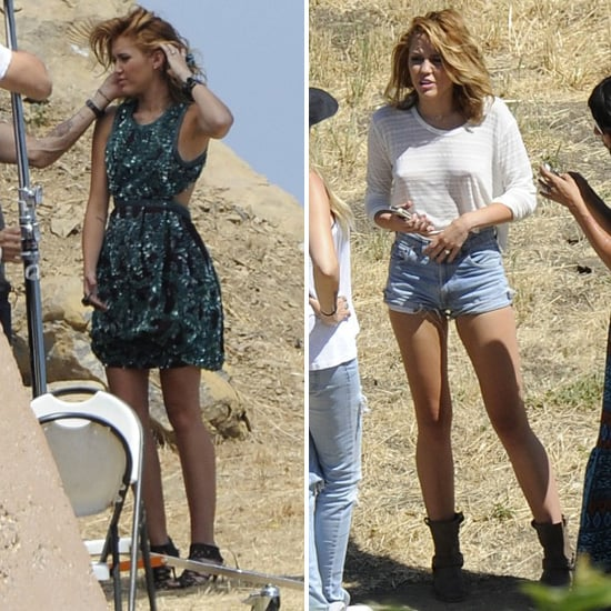 Miley Cyrus Engagement Ring Pictures at Shoot