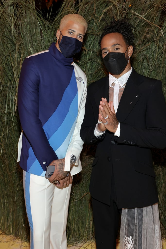 Miles Chamley-Watson and Lewis Hamilton at the Met Gala 2021