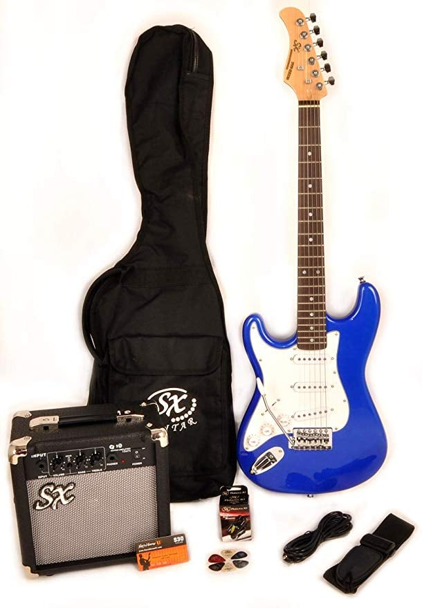 Toys & Child SX Rest Left Handed Short Scale Electric Blue Guitar