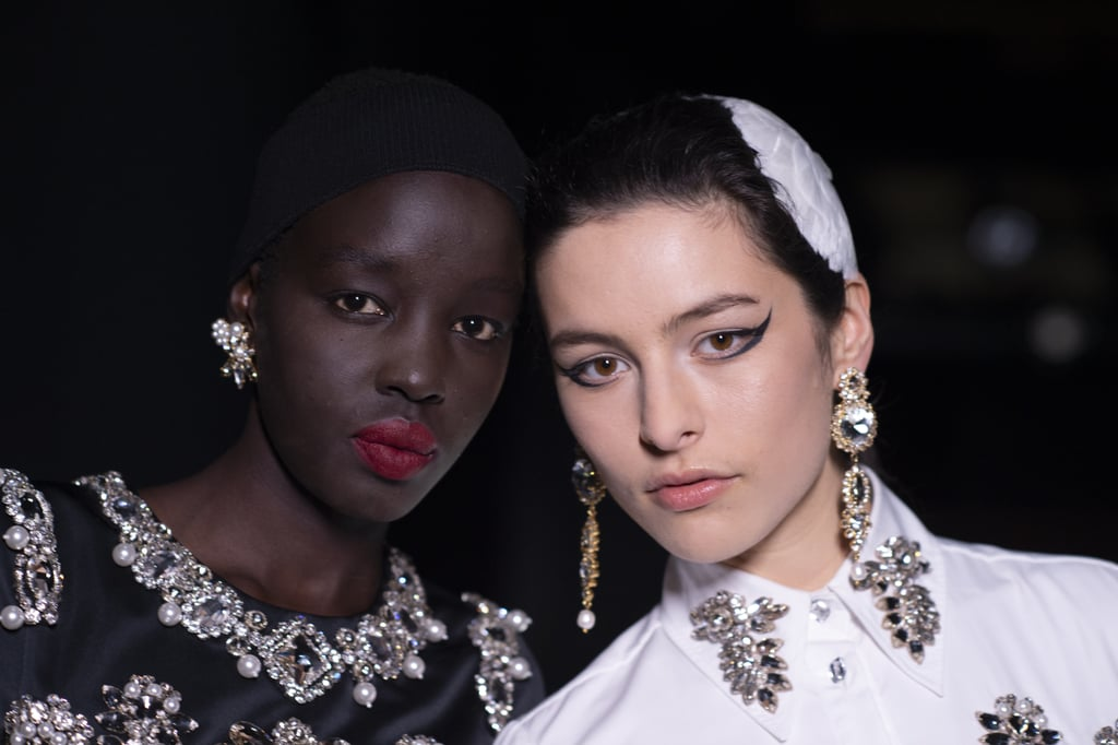 Classic Makeup With a Twist at Erdem Autumn 2021