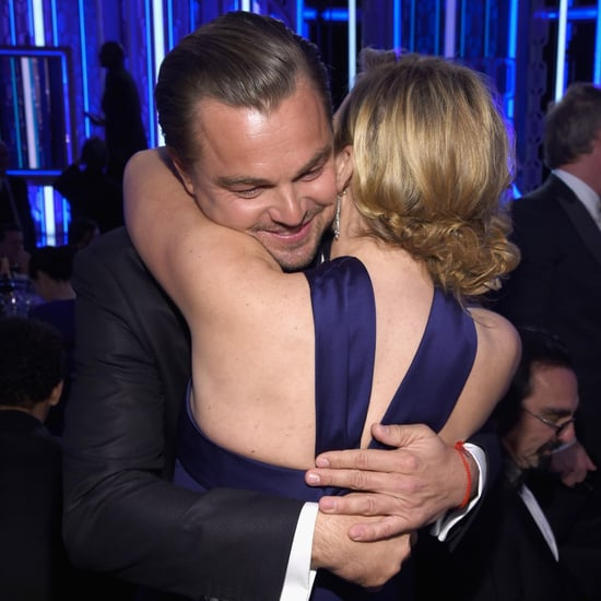 Leonardo DiCaprio and Kate Winslet at the Golden Globes