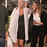 Bar Refaeli headed out after an al fresco meal with friends.