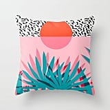 Palm Sunrise Throw Pillow Cover