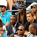 Celebrities at the US Open Tennis 2012