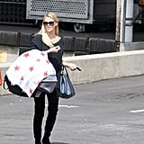 Charlize Theron carried Jackson out of the post office in LA.