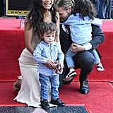 Zoe Saldana and Sons at Hollywood Walk of Fame Ceremony 2018
