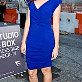 Alexis Bledel looked chic in a blue sheath at Lincoln Center.