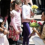 When This Little Girl Welcomed Her to Sydney With Flowers