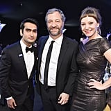 Pictured: Kumail Nanjiani, Judd Apatow, and Emily V. Gordon