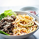 Spiralized Apple Kimchi With Garlic Beef
