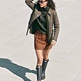 Topshop Topstitch Twill Miniskirt