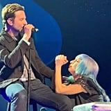 "Lady Gaga and Bradley Cooper Performing ""Shallow"" on Her Enigma Tour in 2019"