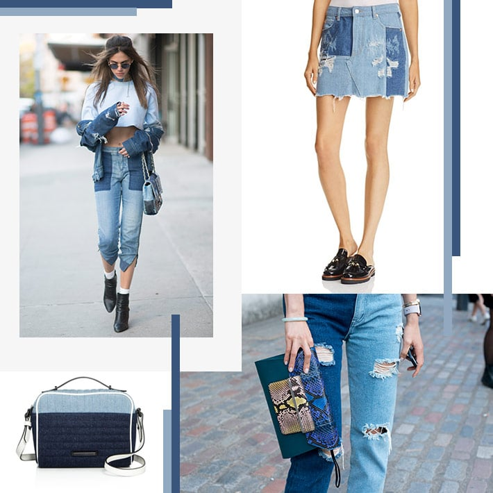 Contrast denim