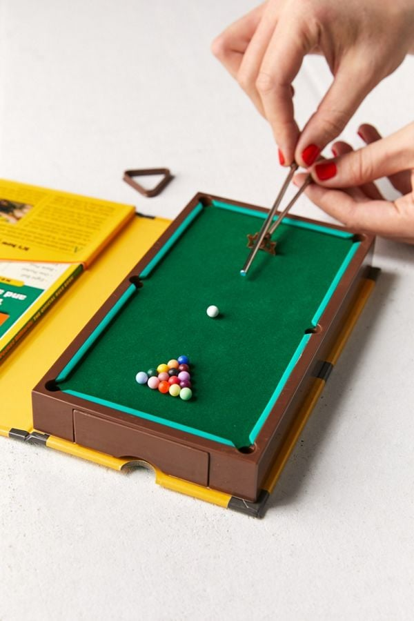 The Pocket Book of Billiards: The Rack, the Rules — and a Working Pool Table by Mike Vago