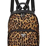 Prada Leopard Print Tessuto Nylon Backpack