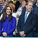 Kate Middleton Wearing Blue Reiss Coat