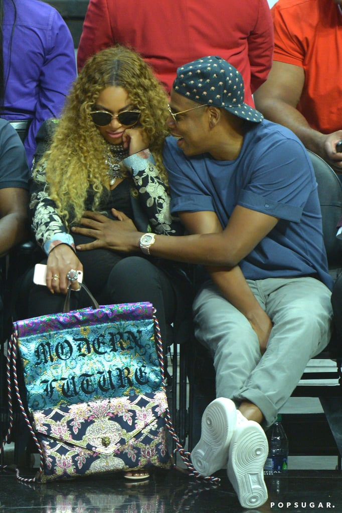 Beyonce and Jay Z at LA Clippers Game April 2017 ...