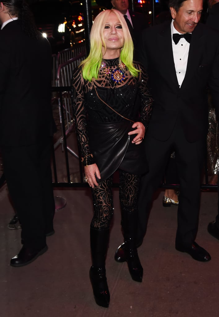 Donatella Versace at the Met Gala Afterparty