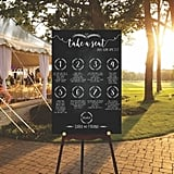 DIY Digital Wedding Seating Chart Sign