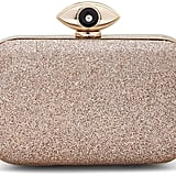 Diane von Furstenberg Evil Eye Glitter Minaudiere Evening Clutch Bag, Sand ($328)