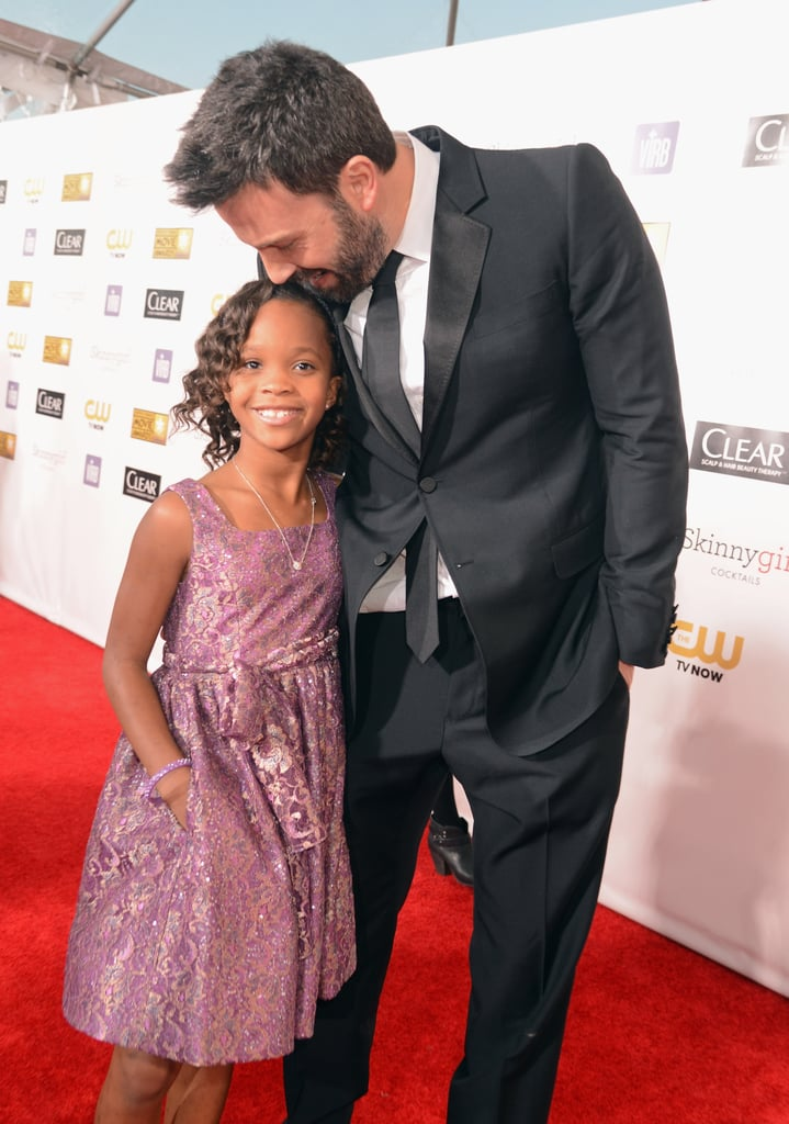 Ben Affleck stopped to chat with Quvenzhané Wallis at the Critics' Choice Awards.