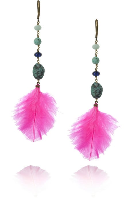 Isabel Marant Feather Drop Earrings