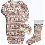 Burt's Bees Baby Infants' Fair Isle Holiday Gown & Stocking Pajamas Set