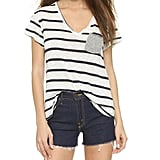 Stateside Striped V Neck Pocket Tee ($72)