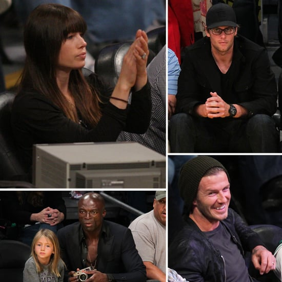 Jessica Biel Brings Her Engagement Ring to a Lakers Game With David, Tom and More