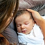 Vanessa Minnillo and Nick Lachey's son, Camden John, was born in September 2012.  Source: Twitter user VanessaLachey