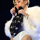 Miley Cyrus smoked a joint on stage.