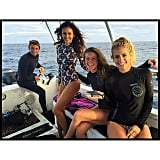 """""""We free dived with 22 wild Sharks this morning and it was INCREDIBLE!!!!!! Help us save these beautiful creatures! More underwater pictures to come!!!! @oceanicramsey @hillaryharley @cheeklane @juansharks 😃😃😃 #helpsavesharks #HappyHawaii🌺 #livelifetothefullest #meetashark #savesharks #savetheocean #ninadobrev @oneoceandiving @waterinspired @shells4sharks"""""""