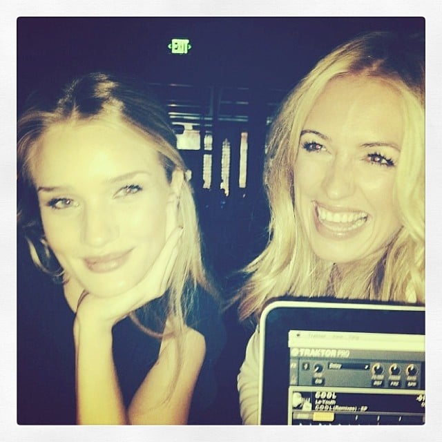 Rosie Huntington-Whiteley spent a night out with fellow British beauty Cat Deeley. Source: Instagram user rosiehw