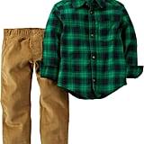 Carter's Plaid Shirt and Pants