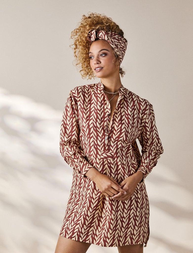 House of Harlow 1960 Collab Pajama Shirt Tunic Dress